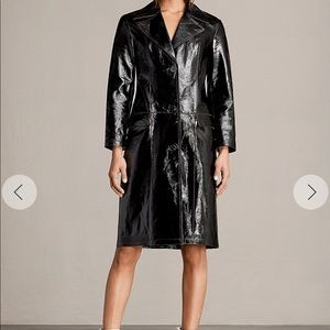 All saints Payton Mac patent leather trench